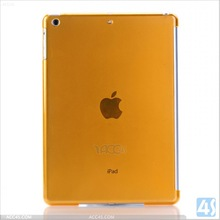 Orange Crystal Hard Shell Back Case Smart Cover Partner for Apple iPad Air (iPad 5) Compatible with Smart Cover P-iPAD5HC003