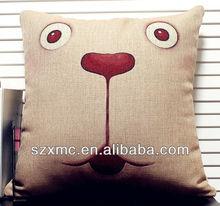 Cartoon reaction cotton canvas fancy pillow case animal