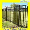 Black Coated Aluminum Picket Fence(Weian,ISO9001,Factory)