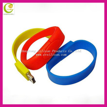 Hot sale colorful high quality silicone usb wristband drive with real capacity 1gb 2gb 4gb 8gb 16gb 32gb for promotion and gifts