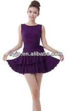 Confortable jupe salle de bal robe de danse latine