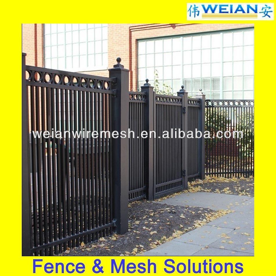 Black Powder Coated Aluminum Swimming Pool Fence,Cheap Aluminum Fence (Weian,ISO9001,Factory)