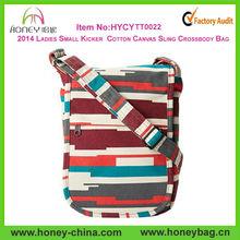 2014 Ladies Small Kicker Cotton Canvas Sling Crossbody Bag
