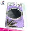 Luxury Diamond Aluminum Mirror Cell Phone Case For Girl