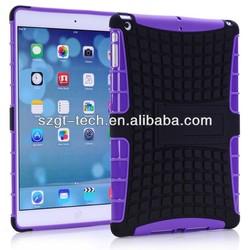 PC+TPU stand case for ipad air combo case for ipad 5 tpu ipad case