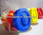 candy jars plastic caps