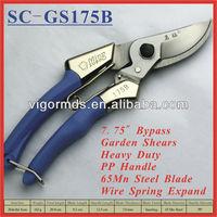 """(SC-GS175B) 7-3/4"""" Long 65 Manganese Steel Blade Bypass Garden Prunning Scissors"""
