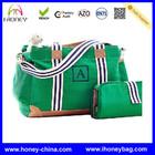 2013Cheap Supply Fashion Durable Canvas Diaper Bag Set Green