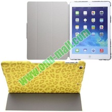 Leopard Texture Leather Cover for iPad Air Case with Holder