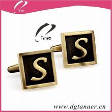 brass cufflinks with initials