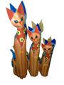 decorativos de madera gato