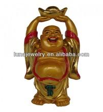 24k Golden painting buddha statue ,resin buddha , happay buddha statue