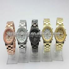 Gold Plating Alloy Sapphire Watch Swiss Quartz For Women