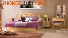 Elegant apartment bedroom furniture set with rattan headboard for sale W5303#