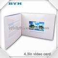 4.3 pulgadas lcd de pantalla de vídeo de papel del folleto