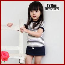 ta2049 2014 Korean female baby cotton striped t-shirt for girls