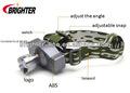 cree q5 ucl lente abs de aleación de aluminio ajustable led faro