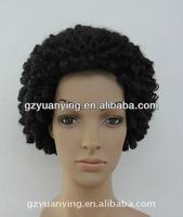 Kinky curl 3/4 half wig custom wigs for black women