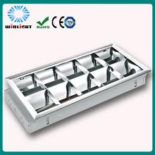 1200 mm fluorescente empotrable grille luminaria