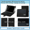 LBK173 2013 Fashion Leather Case for Ipad Air with Sleep Wake wireless bluetooth keyboard case