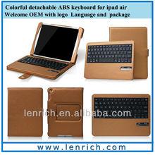 LBK173 Newest Ultra Thin Bluetooth Keyboard Folio Case for iPad AIR