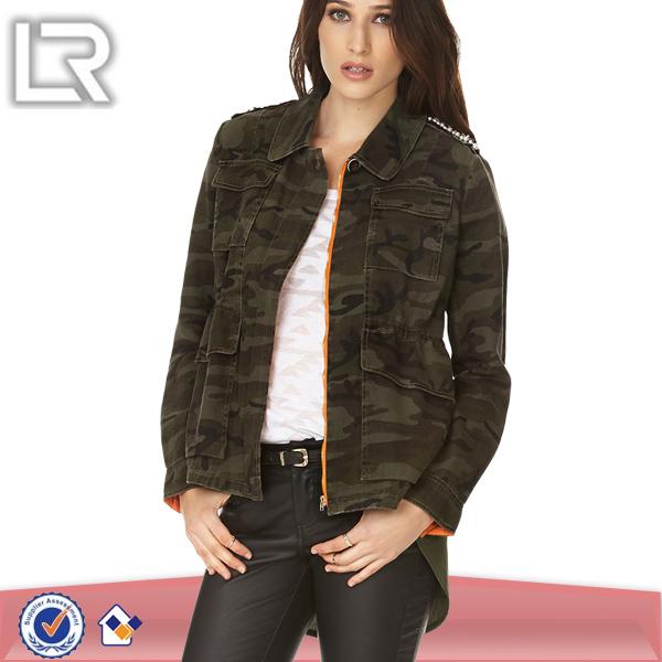 Utility Casual Womens Camo Jackets