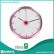 "12""300mmAluminum modern mantel wall clocks"