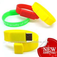 2014 New! Silicon Bracelet USB,Wristband USB Drive,USB Memory Stick