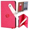 For iPad Mini Flip Case Cover! Book Cover Pattern Leather Flip Case Cover for iPad Mini (Rose)