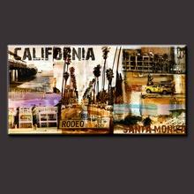 100% Handmademodern handpainted cityscape oil painting for home decor European style