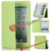 For iPad Mini Book Cover! Comfortable Soft Stand Leather Flip Book Cover for iPad Mini (Green)
