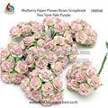 mulberry artesanal de flores de papel para scrapbooking