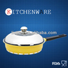 Die-casting non-stick look cookware with induction bottom
