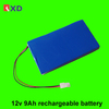 li ion 12v 9ah rechargable battery pack with PCB and charger
