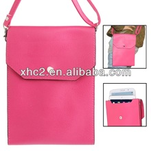 High quality Litchi Texture 3-layer Leather Bag for iPad mini