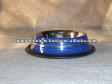 Stainless Steel colored linux dog bowl/Pet feeder
