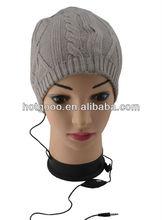 stylish stripe cable knit men hat