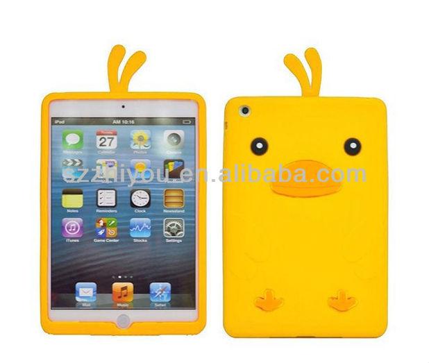 Eco friendly back cover for ipad mini cute animal shaped silicone case