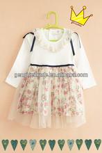 Latest Elegant Style Girls Autumn Flower Lace Design Dresses