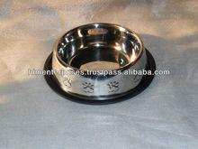 Stainless steel Embossed dog bowl/Pet Feeder