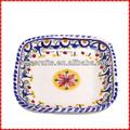 Nice espagnol. carré. personnalisée. tapa plat en céramique