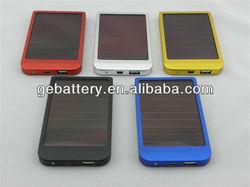 portable 2600mah solar travel mobile power