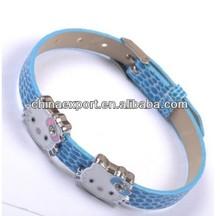 8MM Slider Letter DIY Leather Straps Bracelet