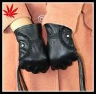 fashion short design womens sheepskin genune leather glove winter thickening gloves
