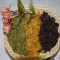 De la fruta mixta pasas de corinto, sultanas& frutas cítricas