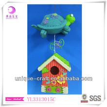 Tortoise decor B-house / feeder, hanging birdhouse