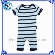 wholesale kid clothes organic cotton stripe chevron baby romper custom infant pajamas/sleepwear