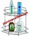 Personalizados de metal fio de banho spa frascos de armazenamento titular/metal fio pendurado rack garrafa