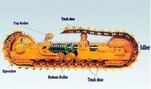 jcb js200 excavator track roller spare parts