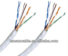 communication utp cable cat5e BC/CCA stable component with fluke test passed